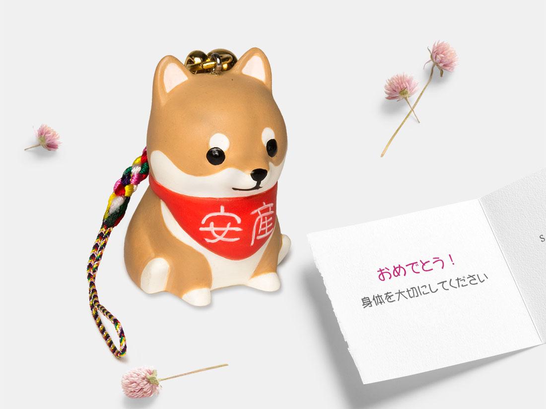 コウノドリ 柴犬 安産犬 TB-1001